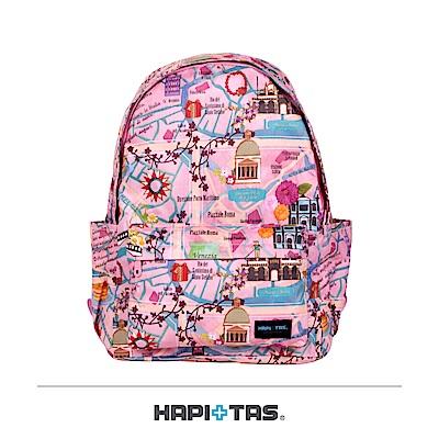 日本HAPI+TAS 防盜防潑水 摺疊後背包 粉色旅遊景點