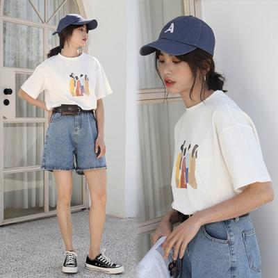 【韓國K.W.】(預購)韓新品清晰印花上衣-2色