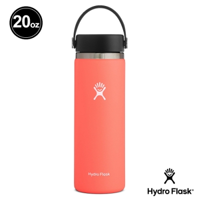 美國Hydro Flask 真空保冷/熱寬口鋼瓶591ml 木槿橘