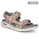 ECCO X-TRINSIC. 簡約撞色圖騰戶外運動涼鞋 女-粉紅