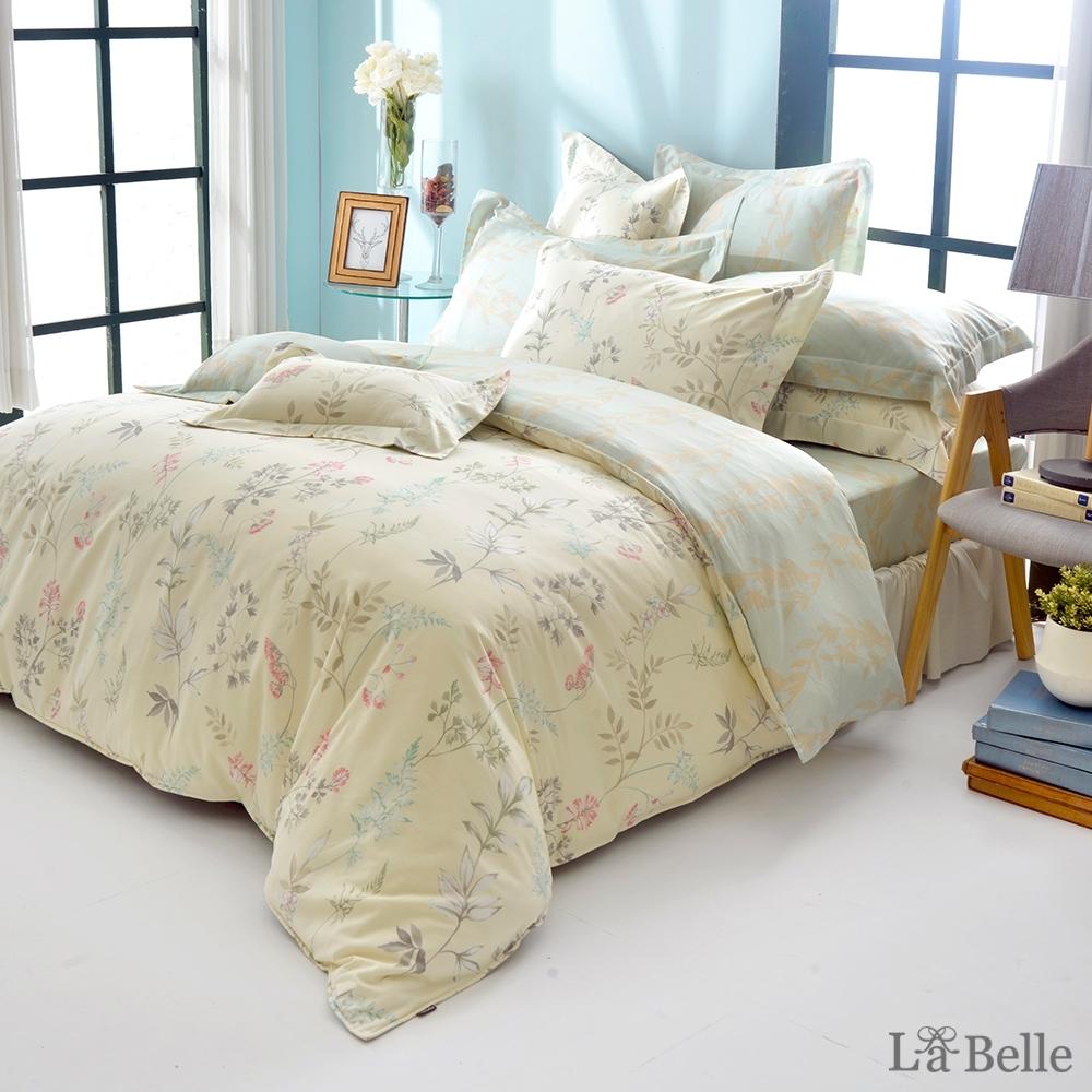 義大利La Belle 春漾香氣 雙人純棉防蹣抗菌吸濕排汗兩用被床包組