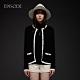 EPISODE - 黑色羊絨混紡精緻撞色鑲邊百搭針織開衫外套 product thumbnail 1