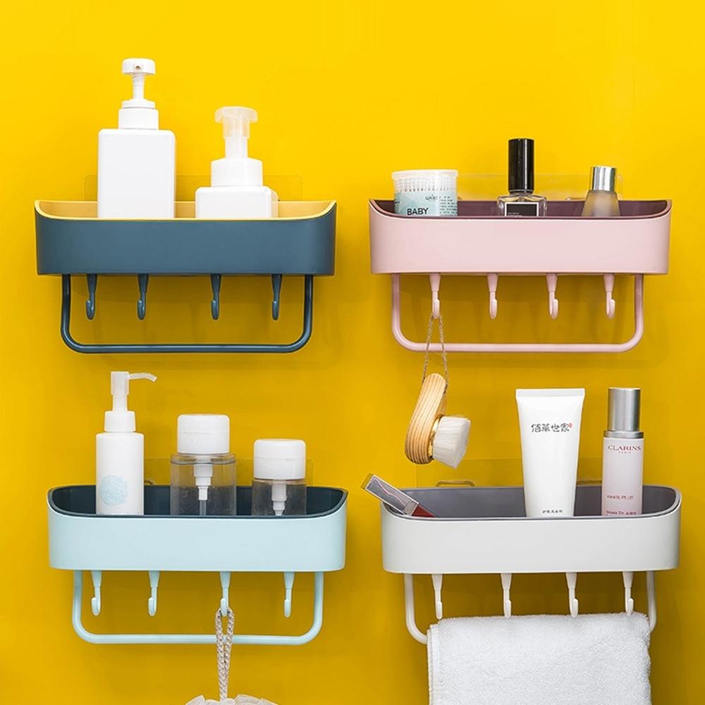 【Cap】廚房衛浴雙色雙層瀝水置物架/掛架