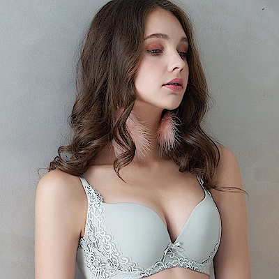 EASY SHOP-微醺戀語 A-D罩成套內衣(沉靜灰)