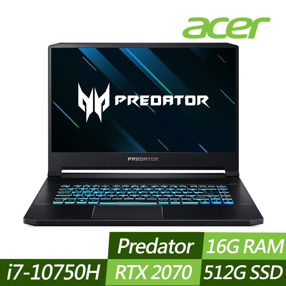 Acer PT315-52-790J 15吋電競筆電(i7-10750H/RTX2070/16G/512G SSD/Predator/黑)