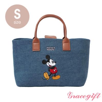 Disney collection by grace gift–唐葳設計迪士尼米奇2WAY帆布包S 牛仔