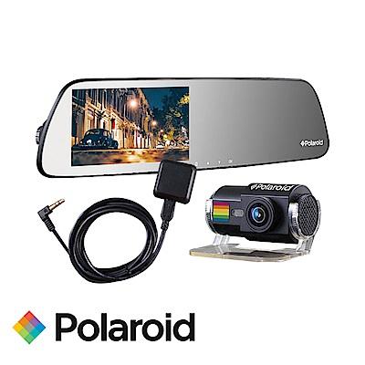 寶麗萊 DS502GS+GC2 SONY雙鏡頭行車紀錄器+GPS測速 後鏡頭1080P-快