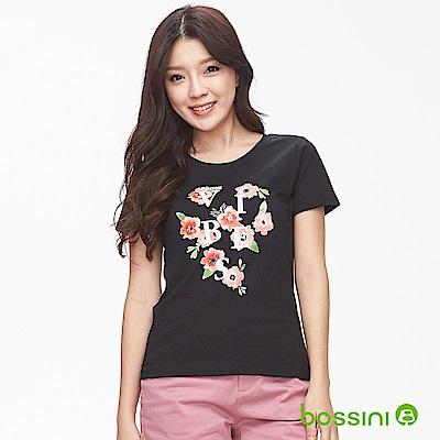 bossini女裝-印花短袖T恤08黑