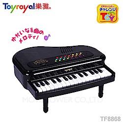 日本《樂雅 Toyroyal》多功能迷你鋼琴-經典黑【禮盒包裝】