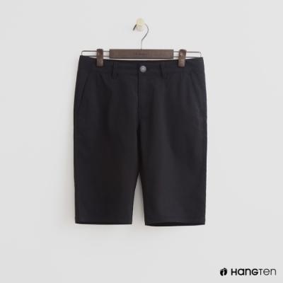 Hang Ten- 青少童裝-棉質都市休閒短褲-黑