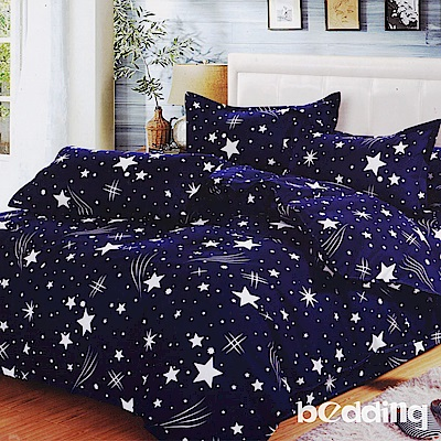 BEDDING-活性印染 特大6x7尺床包三件組-流星雨