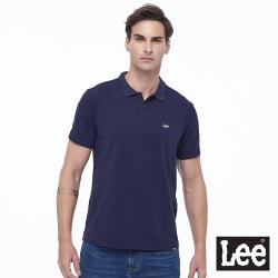 Lee 刺繡小Logo 短袖POLO衫 彈性 男款-丈青