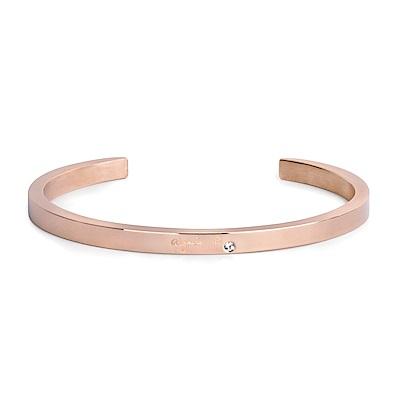 agnes b. Logo基本款女性手環(玫瑰金)