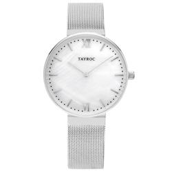 TAYROC  簡約大理石時尚米蘭腕錶-白(TY150)-36mm
