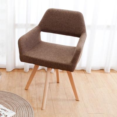 Bernice-簡約日系扶手旋轉餐椅/單椅/休閒椅(四色可選)-60x53x82cm