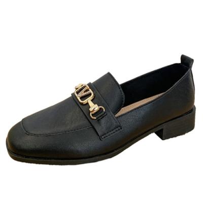 KEITH-WILL時尚鞋館 時尚元素歐美風金屬樂福鞋-黑