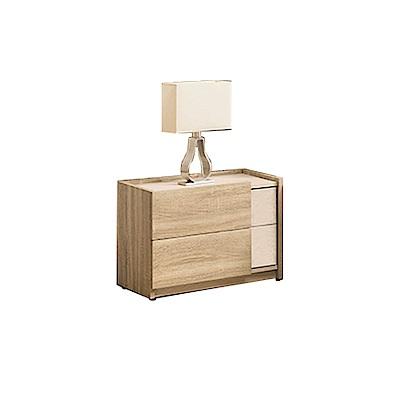 柏蒂家居-瑞莎1.8尺床頭櫃/二抽收納置物櫃-54x40x46cm