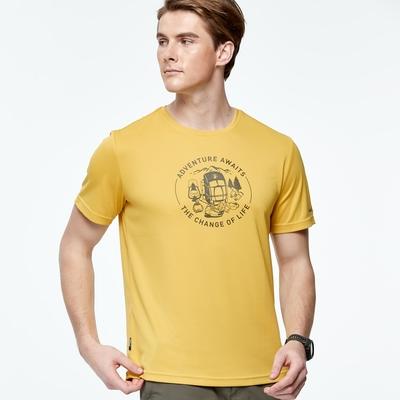 Wildland荒野男椰炭紗抗菌抗UV圓領衣藤黃色