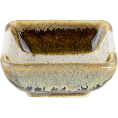 《Tokyo Design》方形瓷製醬料碟(棕石紋)