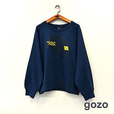 gozo 品牌標語積木印花造型上衣(二色)