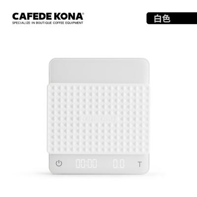 CAFEDE KONA GHOST雙螢幕LED手沖咖啡電子秤 - 白色(專利雙螢幕顯示)