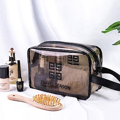 JIDA 360°耐磨防水厚款半透明盥洗包/化妝包(中)26x15cm
