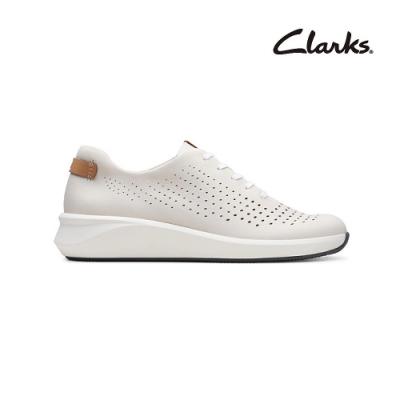 Clarks   街頭風尚  Un Rio Tie   女休閒鞋  白色  CLF48256SC20