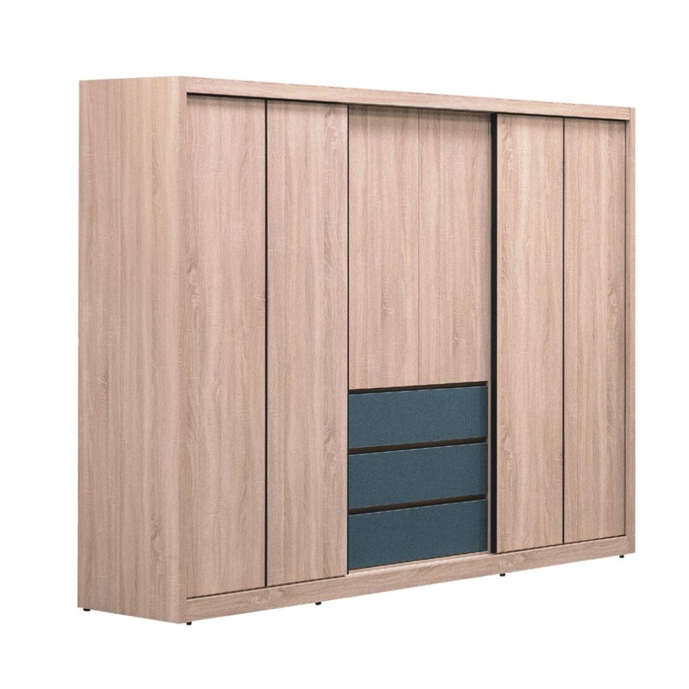 文創集 弗里敦   現代7.9尺推&開門衣櫃/收納櫃-236.1x59.9x196.6cm免組