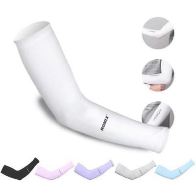ROMIX 夏季防曬冰爽袖套 護臂套 預防紫外線/防曬/冰絲降溫/排汗/透氣冰涼
