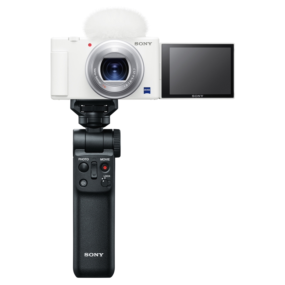 SONY Digital Camera ZV1 (ZV-1) 晨曦白 類單眼相機手持握把組 (公司貨)