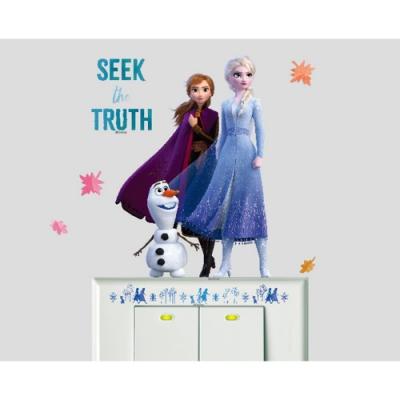 BID129 迪士尼冰雪奇緣2系列開關壁貼-艾莎安娜