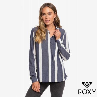 【ROXY】MESS IS MINE STRIPE 襯衫 藍色