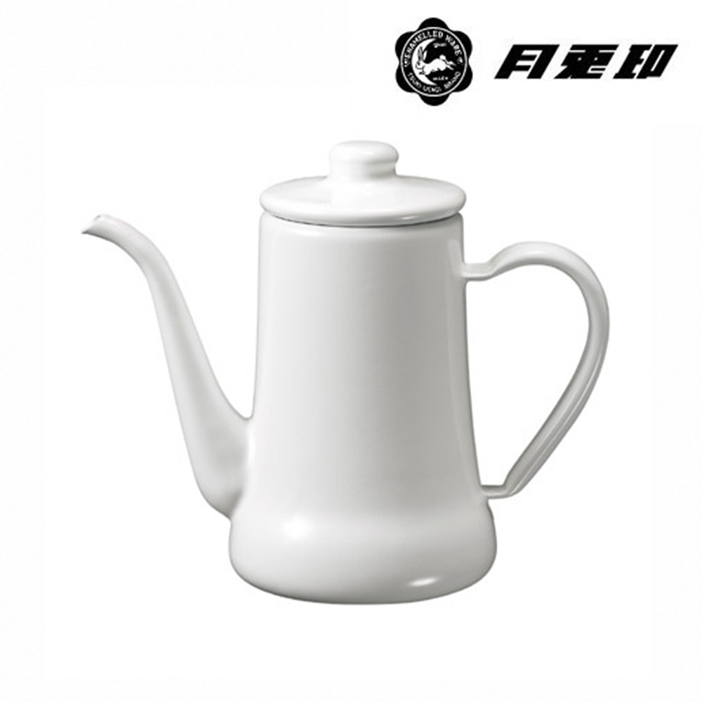 JIA Inc. 品家家品 月兔印-琺瑯手沖壺 0.7L-白色