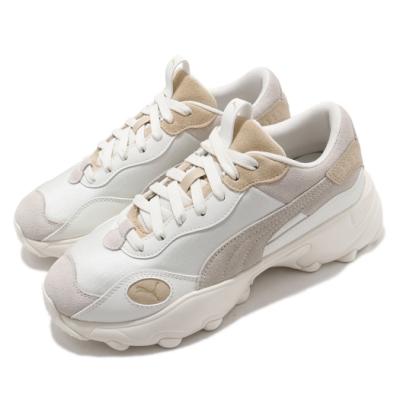 Puma 訓練鞋 Pulsar Blend 運動 女鞋 麂皮 質感 簡約 穿搭 厚底 舒適 灰 白 37362002