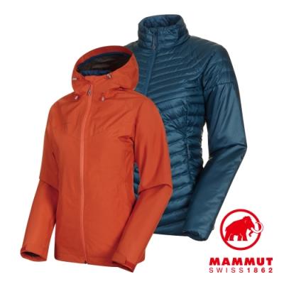 【Mammut 長毛象】Convey3in1 GTX兩件式 橙/藍 女#1010-27420
