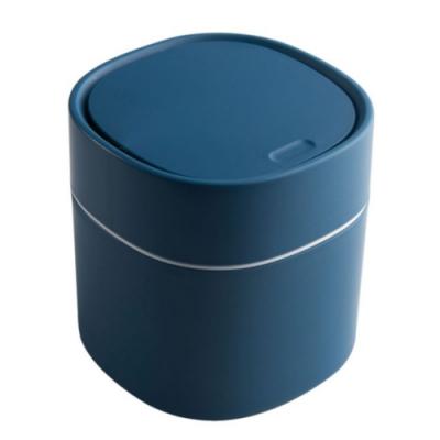 迷你 桌面 收納 垃圾桶 簡約 北歐風 按壓式 彈蓋 垃圾桶