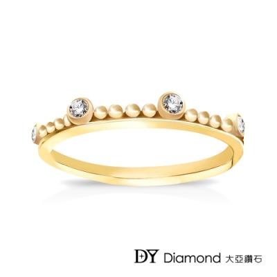 DY Diamond 大亞鑽石 L.Y.A輕珠寶 18黃K金 古典 鑽石線戒