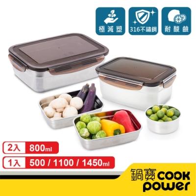 (Yahoo獨家) 鍋寶 316不鏽鋼保鮮盒私廚5入組(時時樂)