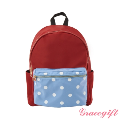 Disney collection by gracegift米妮造型口袋後背包 紅