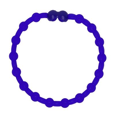 Pro Hair Tie 扣環髮圈單條組-海軍藍