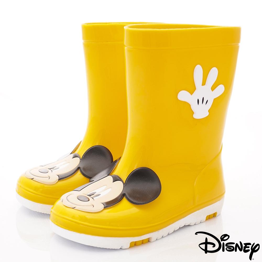 迪士尼童鞋 米奇雨鞋款 ON18819黃(中小童段)