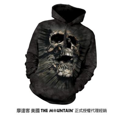 摩達客 美國進口The Mountain 突破骷髏頭 長袖連帽T恤