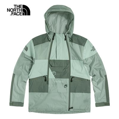 The North Face北面男女款綠色防水透氣連帽外套|52ZW00L