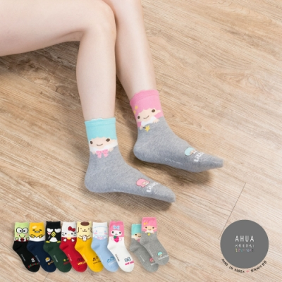 阿華有事嗎  韓國襪子 三麗鷗大臉卡通人物中筒襪  韓妞必備 正韓百搭純棉襪
