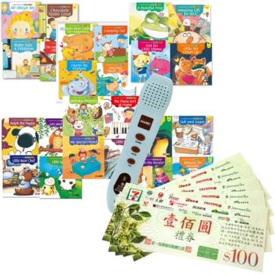 LiveKids英語生命教育繪本(全6書)+ 智慧點讀筆(16G)+ 7-11禮券500元