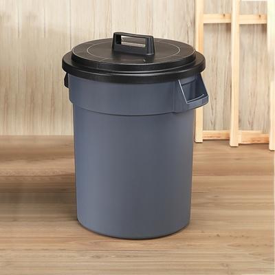 創意達人 KEYWAY圓周大容量附蓋水桶/垃圾桶95L -1入組