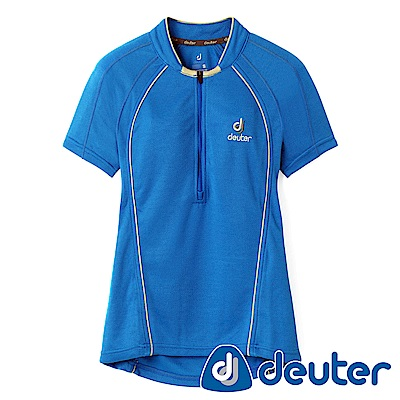 【deuter德國】女款吸濕排汗短袖polo衫DE-P1003W深藍