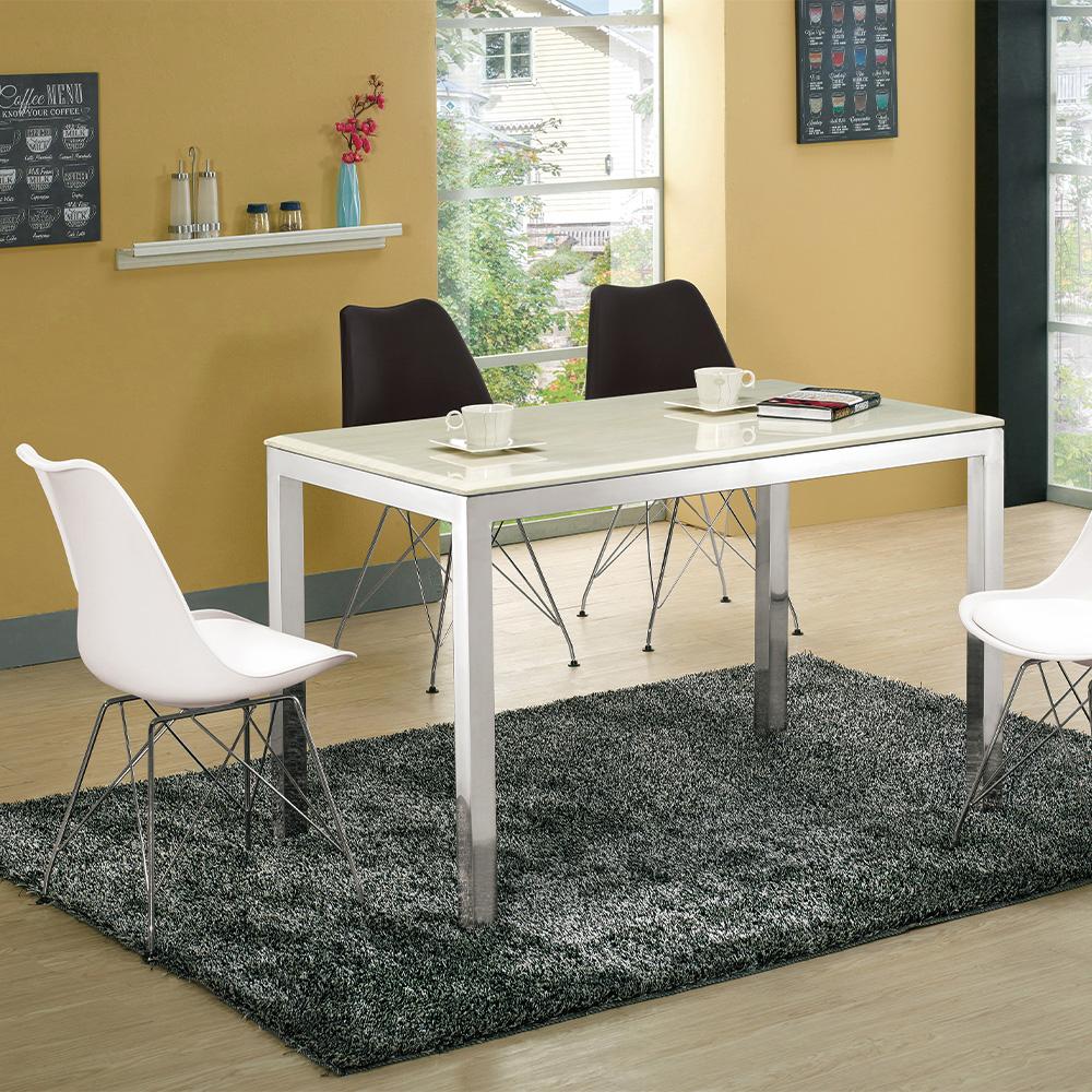 H&D 莫倫不鏽鋼石面餐桌