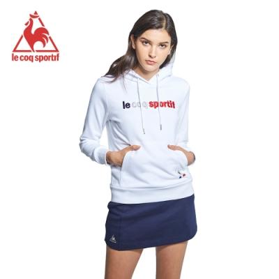 le coq sportif 法國公雞牌休閒連帽T恤 女-白
