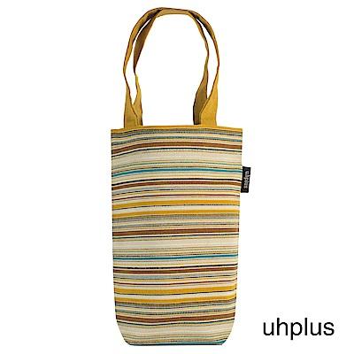 uhplus Love Life 隨行環保飲料袋(長版)- 黃褐條紋